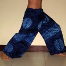 PLUS SIZE Thai Cotton Fisherman Pants Dark BLUE Tie Dye XXXL