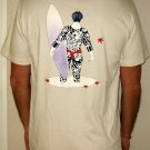IREZUMI SURFER Japanese RONIN Surf T-Shirt XL Cream