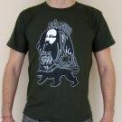 JAH RASTAFARI Roots Rasta REGGAE T-Shirt L Large Dark Green