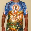 VISHNU GARUDA Gajendra Hindu Art Print T Shirt MENS XL