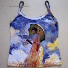 Monet WOMAN with PARASOL Fine Art Print Shirt Singlet TANK TOP Misses S Small