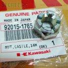 Kawasaki Ninja 250 R 250R OEM Castle Nut 14mm Part Number 92015-1765 2008 2009 2010 2011