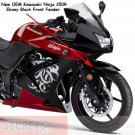 Kawasaki Ninja 250R OEM FRONT FENDER 35004-0079-H8 Ebony Black 2008-2012