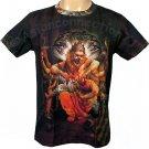 NARASIMHA VISHNU Hindu God Art Print Short Sleeve T-Shirt MENS L Large