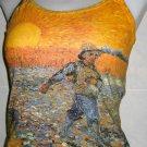 Van Gogh SEMINATORE COL SOLE Art TANK TOP Misses M Medium
