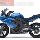 Kawasaki Ninja 650R ER6n ER6f OEM LH Left TAIL FAIRING Metallic Island Blue 36040-0081-15W 09 10 11