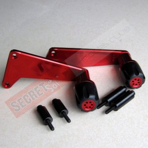 Kawasaki Ninja 650R ER6f No Cut Frame Sliders 09 10 11 RED Anodize