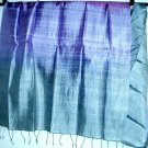 Thai Silk Fabric Scarf Shawl Large Purple Lavendar Blue