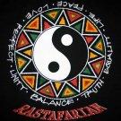RASTAFARIAN YING YANG Rasta REGGAE T-shirt L Black NEW!