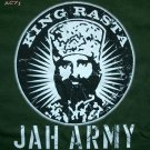 KING H Selassie RASTA JAH ARMY Reggae T-shirt XL Green