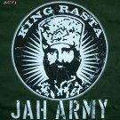 KING Haile Selassie RASTA JAH ARMY Reggae T-shirt L Large Dark Green