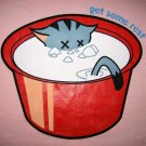 GET SOME REST Sleepy Kitty CISSE T-shirt Asian M Pink BNWT
