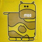 MOO Cow Cute New T-shirt by CISSE Asian XXL Yellow BNWT!