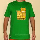 MOO Cow Cute New T-shirt by CISSE Asian XXL Green BNWT!