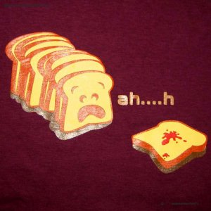 Ahh...h Sneezy Toast CISSE T-shirt Asian XXL Purple NWT Sale!
