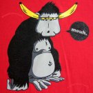 Banana Brains Funky Monkey meuh CISSE T-shirt Asian XXL Red NWT Sale!