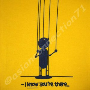 I KNOW YOU'RE THERE Cisse T-Shirt Asian XXL Yellow BNWT!