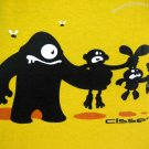 FOOD CHAIN Fun New CISSE T-Shirt Asian XXL Yellow BNWT!