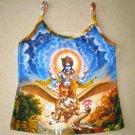VISHNU GARUDA GAJENDRA Hindu Fine Art Print Shirt TANK TOP Misses Size XL