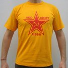 RED ARMY USSR Cool Soviet Retro T-shirt L Yellow NWOT Clearance Sale Free Ship