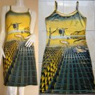 Salvador Dali DISINTEGRATION OF MEMORY Art Print Dress Misses Size L 12-14
