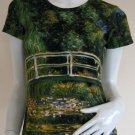 Monet WATER LILY POND Art Print T shirt Misses Size M Medium