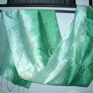 Thai Silk Fabric Textile Scarf Shawl Green and Mint Direct from Thailand 2-12