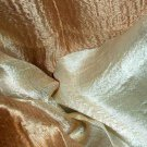 Thai Silk Fabric Scarf Shawl Dark Gold and Cream New! 2-20