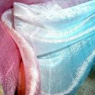 Thai Silk Fabric Scarf Shawl Pale Multicolor Variegated Pastels New! 2-20