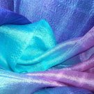 Thai Rich Bright Vivid Purple Pink Blue Multicolor Silk Fabric Scarf Shawl New! 2-17