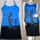 Salvador Dali BURNING GIRAFFE Art Print Dress Misses Size XL 16-18
