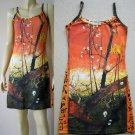 PLUM TREES Van Gogh JAPONISME New Hand Print Art Dress L 12-14