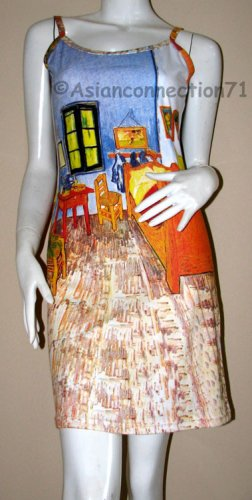 Van Gogh BEDROOM in ARLES Art Print Dress M Medium 8-10