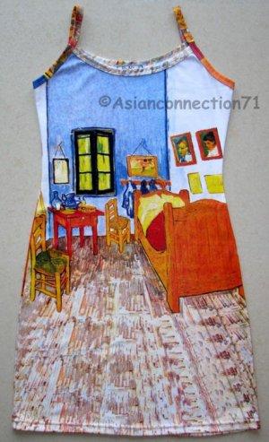Van Gogh BEDROOM in ARLES Art Print Dress XL 16-18