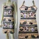 USAGI FOLKLORE Japanese UKIYOE Art Print Dress Misses S 4-6