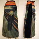 THE SCREAM Edvard Munch Freesize Fine Art Print Long Cotton Wrap Art Skirt