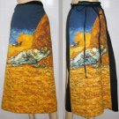 Van Gogh LA SIESTE Freesize Long Cotton Fine Art Print Wrap Skirt S-XL