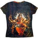NARASIMHA VISHNU Hindu Art Print T Shirt Misses Size XL Short Sleeve