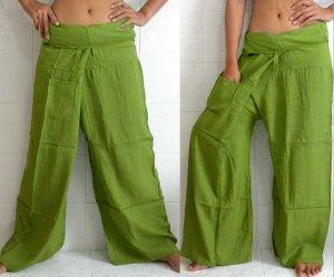 7 Pairs Thai FREESIZE Fisherman Yoga Pants Rayon Many Colors Wholesale Lot