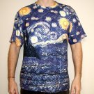 STARRY NIGHT Vincent VAN GOGH Fine Art Print T Shirt MENS Short Sleeve L Large