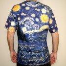 STARRY NIGHT Vincent VAN GOGH Fine Art Print T Shirt MENS Short Sleeve XL