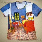 VAN GOGH ARLES BEDROOM Fine Art Print Cap Sleeve PN T Shirt Misses Size L Large