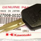 Kawasaki New OEM KEY LOCK BLANK Genuine Part Number 27008-0030 Fits Many Years, Many Models