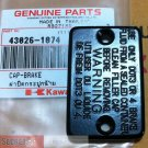 Kawasaki OEM CAP BRAKE 43026-1074 Ninja 250R, KLX140, KLR650, KLX250 and other models