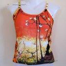 Van Gogh PLUM TREES In BLOOM Fine Art Print Japonisme Shirt TANK TOP Misses Size L Large
