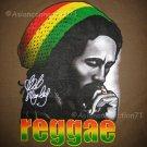 Bob Marley REGGAE Rasta Irie Dub Rastafarian Judah T-Shirt M Brown