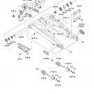 Kawasaki OEM SWING ARM COLLAR RH 92143-1727 fits Ninja 650R, ER6n, Versys, Vulcan 1700 More!