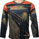 THE SCREAM Edvard Munch Fine Art Print LONG SLEEVE T Shirt Men&#39;s XL