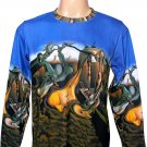 DALI Long Sleeve Art Print T Shirt DADDY LONGLEGS of the EVENING HOPE Men's M Medium