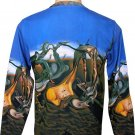 DALI Long Sleeve Art Print Shirt DADDY LONGLEGS of the EVENING HOPE Men's L Large